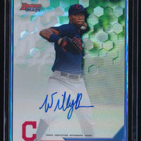 WILL BENSON 2016 BOWMAN'S BEST BEST OF '16 AUTOGRAPH REFRACTOR RC AUTO INDIANS