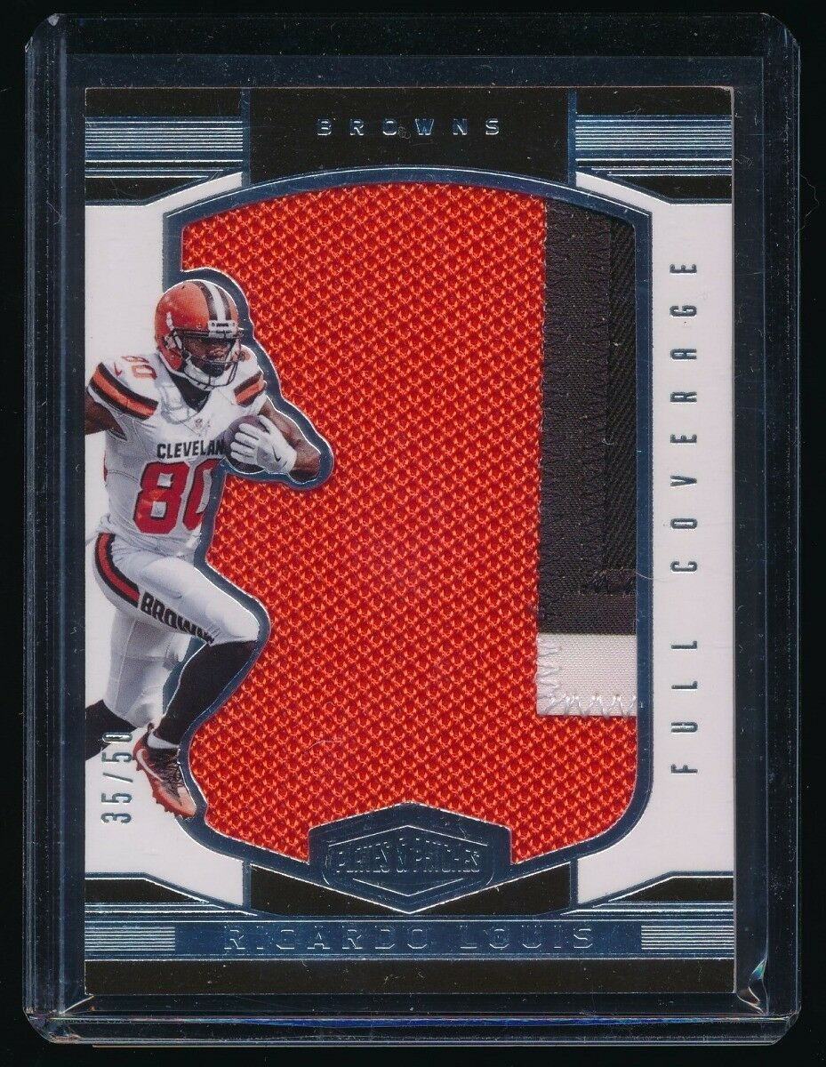 RICARDO LOUIS 2016 PANINI PLATES AND PATCHES FULL COVERAGE PATCH 35/50 *BROWNS*