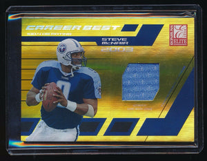 STEVE MCNAIR 2004 DONRUSS ELITE CAREER BEST JERSEY YEAR 093/103 TENNESSEE TITANS
