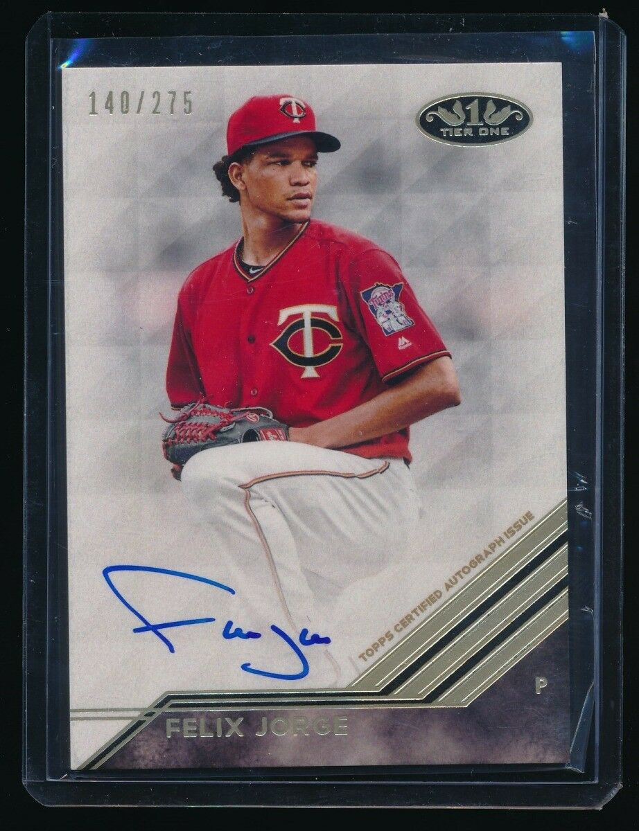 FELIX JORGE 2018 TOPPS TIER ONE BREAK OUT AUTO 140/275 *MINNESOTA TWINS*