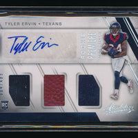 TYLER ERVIN 2016 ABSOLUTE JERSEY RC AUTO BALL 4/499 RC *HOUSTON TEXANS*