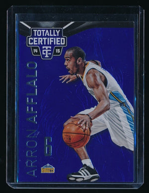 ARRON AFFLALO 2014-15 TOTALLY CERTIFIED PLATINUM BLUE 143/149 DENVER NUGGETS