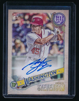 ANDREW STEVENSON 2018 TOPPS GYPSY QUEEN AUTOGRAPH RC AUTO *WASHINGTON NATIONALS*