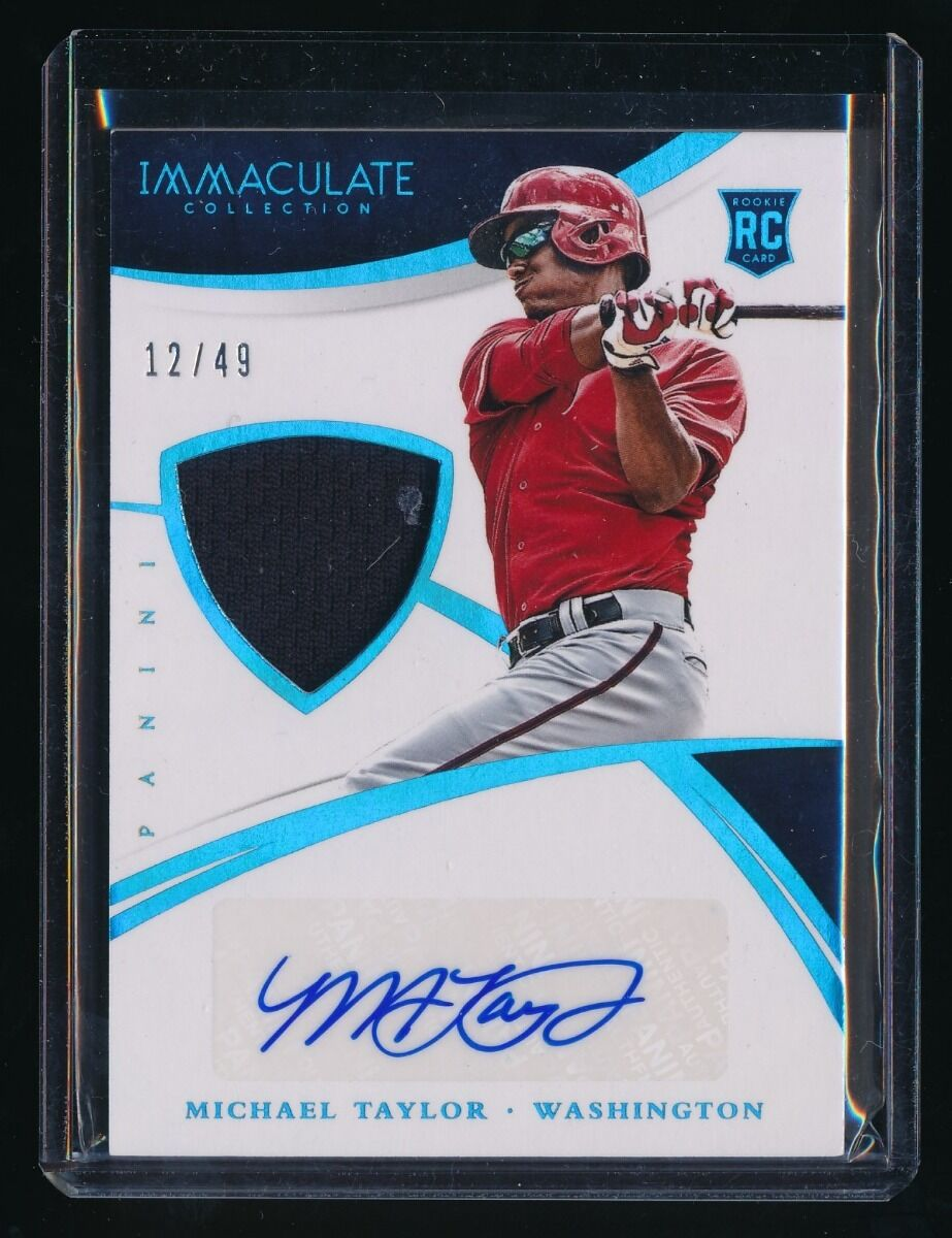 MICHAEL TAYLOR 2015 IMMACULATE COLLECTION JERSEY RC AUTO 12/49 *NATIONALS*