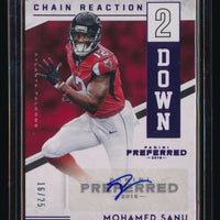 MOHAMED SANU 2016 PANINI PREFERRED CHAIN REACTION SECOND DOWN AUTO 16/25 FALCONS