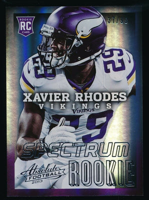 XAVIER RHODES 2013 PANINI ABSOLUTE SPECTRUM SILVER ROOKIE CARD 37/99 *VIKINGS*