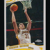 CHRIS MIHM 2005-06 TOPPS CHROME REFRACTORS 972/999 *LOS ANGELES LAKERS*