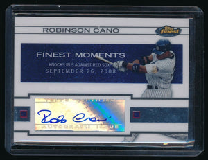 ROBINSON CANO 2009 FINEST MOMENTS AUTOGRAPH AUTO SEATTLE MARINERS YANKEES