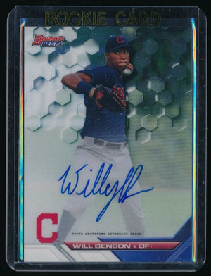 WILL BENSON 2016 BOWMAN'S BEST BEST OF '16 AUTOGRAPH RC AUTO CLEVELAND INDIANS