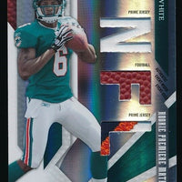 PAT WHITE 2009 DONRUSS PLAYOFF JERSEY FOOTBALL PATCH 42/50 *MIAMI DOLPHINS*