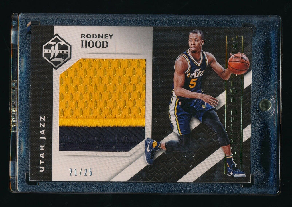 RODNEY HOOD 2015-16 LIMITED UNLIMITED POTENTIAL MATERIAL PATCH 21/25 UTAH JAZZ