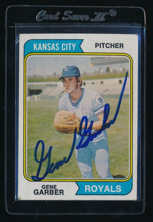 SIGNED GENE GARBER 1974 TOPPS #431 RC AUTO AUTOGRAPH KANSAS CITY ROYALS