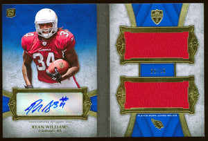 RYAN WILLIAMS 2011 TOPPS SUPREME JERSEY AUTO RC ARIZONA CARDINALS BOOKLET # /10