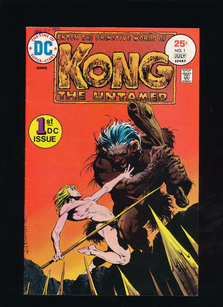 KONG THE UNTAMED #1 DC COMICS 7/75 BERNIE WRIGHTSON COVER *UNPRESSED*