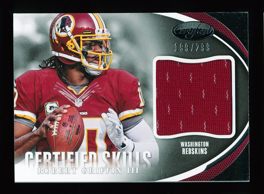ROBERT GRIFFIN RG3 2013 PANINI CERTIFIED SKILLS WASHINGTON REDSKINS JERSEY #/299