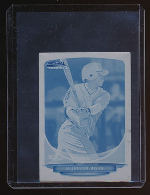 1/1 KEVIN FRANKLIN 2013 BOWMAN CHROME MINI PRINTING RC PLATE CYAN #257 *REDS*