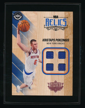 KRISTAPS PORZINGIS 2016-17 NBA UDA SUPREME HARD COURT QUAD JERSEY *KNICKS*