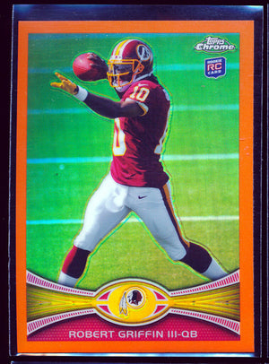 ROBERT GRIFFIN RG3 2012 TOPPS CHROME ORANGE REFRACTOR PARALLEL *REDSKINS* RARE