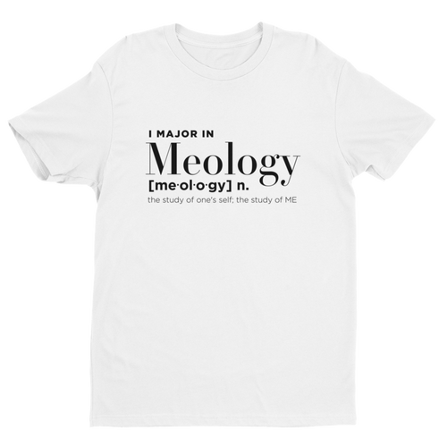 I Major in Meology Definition Unisex Tee - White - Meology Apparel