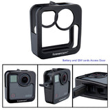 Hard Carry Cage Accessories Combo for Go Pro Fusion Camera ,Aluminum Alloy Housing Protecting Frame Screw by Forevercam (Black L)