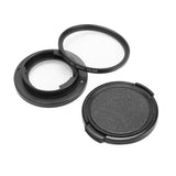 Aluminium Alloy Adapter Protective UV Filter with Front Cover 52mm Lens Cap for OLYMPUS TG-4/5 (FA03US)