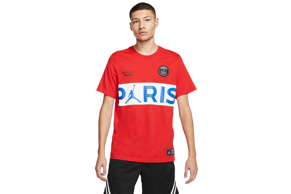 "Air Jordan x PSG WORDMARK TEE ""UNIVERSITY RED"""