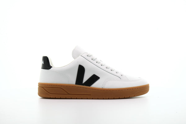 "Veja V-12 Leather ""Extra White Black"""