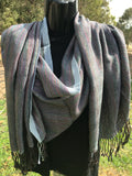 Handwoven shawl - tencel