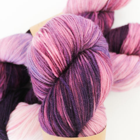 Amethyst purple on all yarn bases