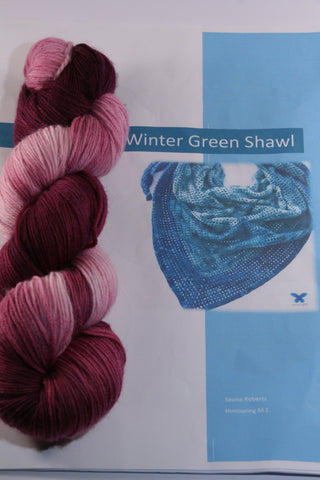 Winter Green Shawl pattern kit