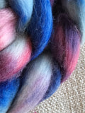 Sunset sea merino silk roving