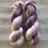 Blackberry and ice cream 4ply sock yarn