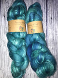 Sea Foam merino silk roving