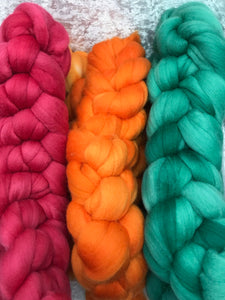 Semi solid 21 micron merino roving 100 grams