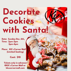 Decorating Cookies With Santa