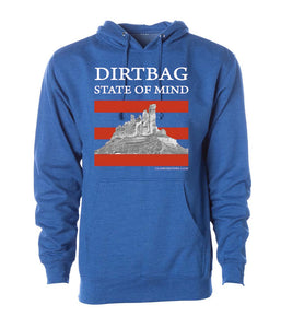 Dirtbag State of Mind men's hoodie blue