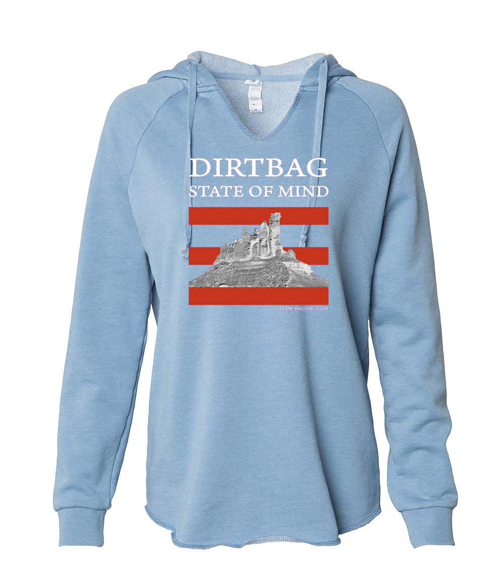 Dirtbag State of Mind women's hoodie blue