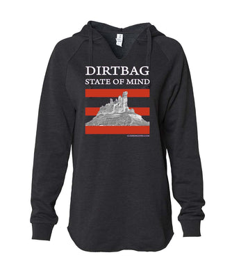 Dirtbag State of Mind women's hoodie black