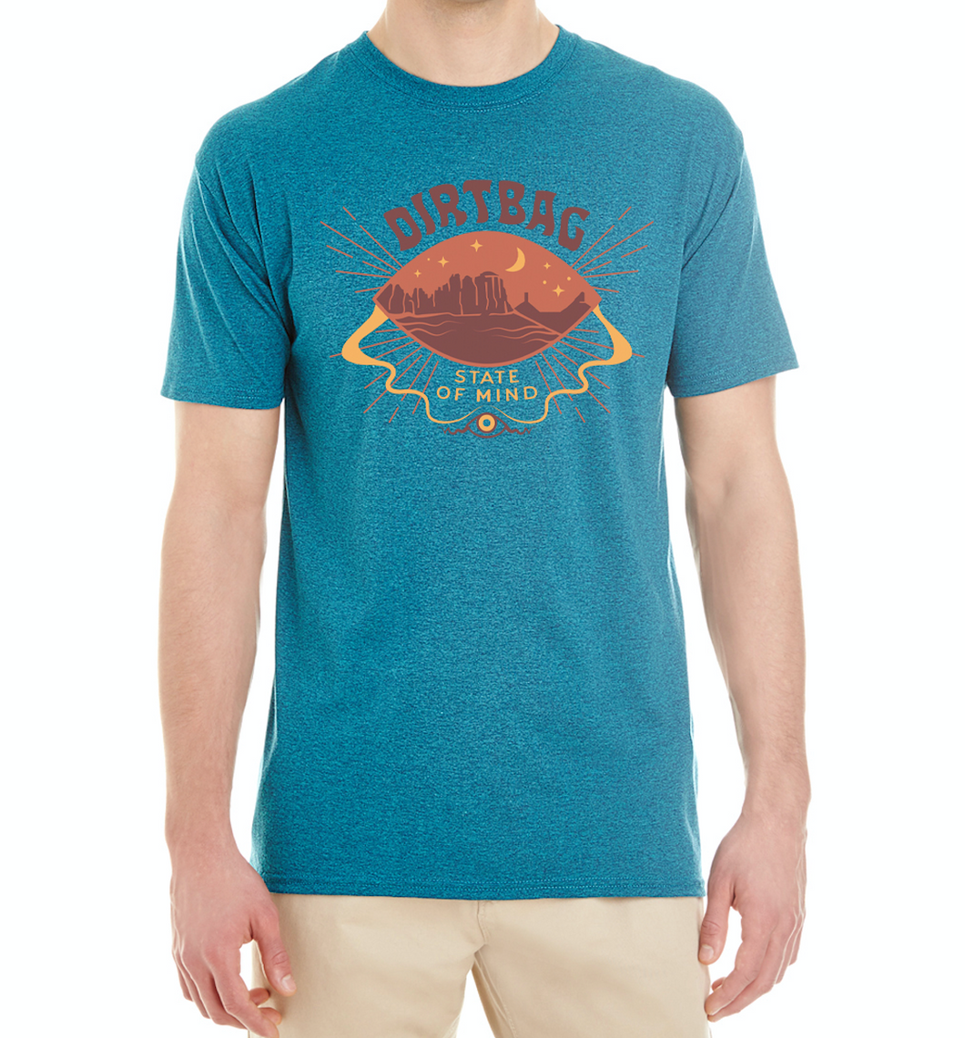 NEW Dirtbag State of Mind t-shirt - Blue