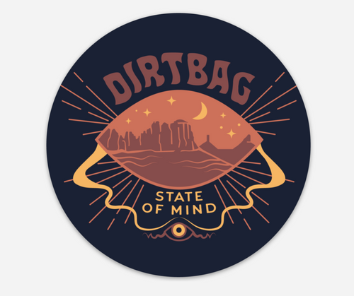 Dirtbag State of Mind sticker