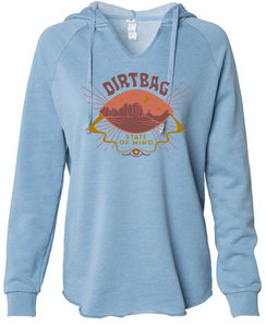 *NEW* Dirtbag State of Mind Women's Hoodie, Baby Blue