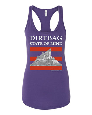 Dirtbag State of Mind - racerback tank top - Purple