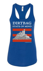 Dirtbag State of Mind - racerback tank top - Blue