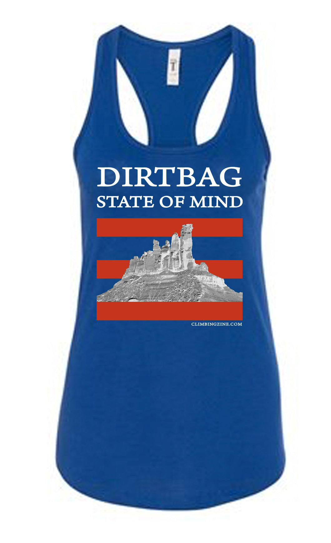 *SALE* Dirtbag State of Mind - racerback tank top - Blue