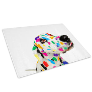 Abstract Dalmatian Dog  Glass Chopping Board Kitchen Worktop Saver Protector - A002