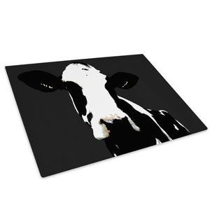 Popart Abstract Cow Farm Glass Chopping Board Kitchen Worktop Saver Protector - A014
