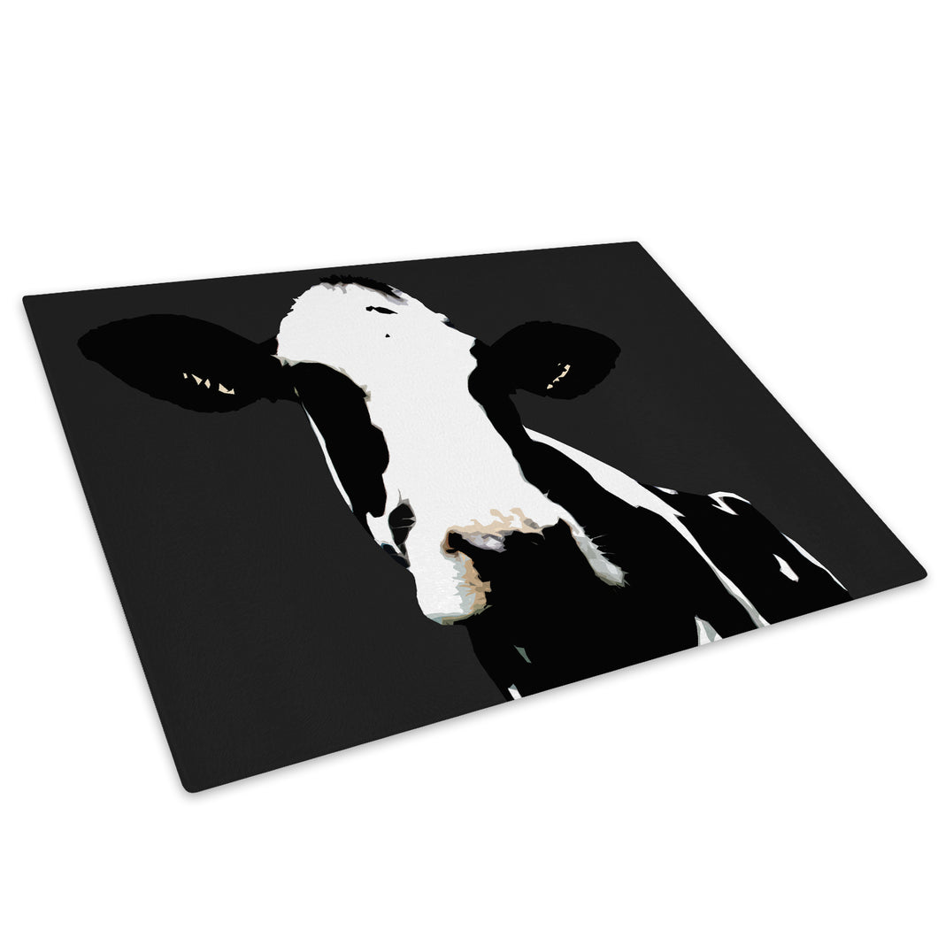 Popart Abstract Cow Farm Glass Chopping Board Kitchen Worktop Saver Protector - A014-Animal Chopping Board-WhatsOnYourWall