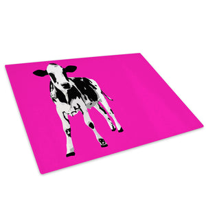 Hot Pink Abstract Black Glass Chopping Board Kitchen Worktop Saver Protector - A028-Animal Chopping Board-WhatsOnYourWall