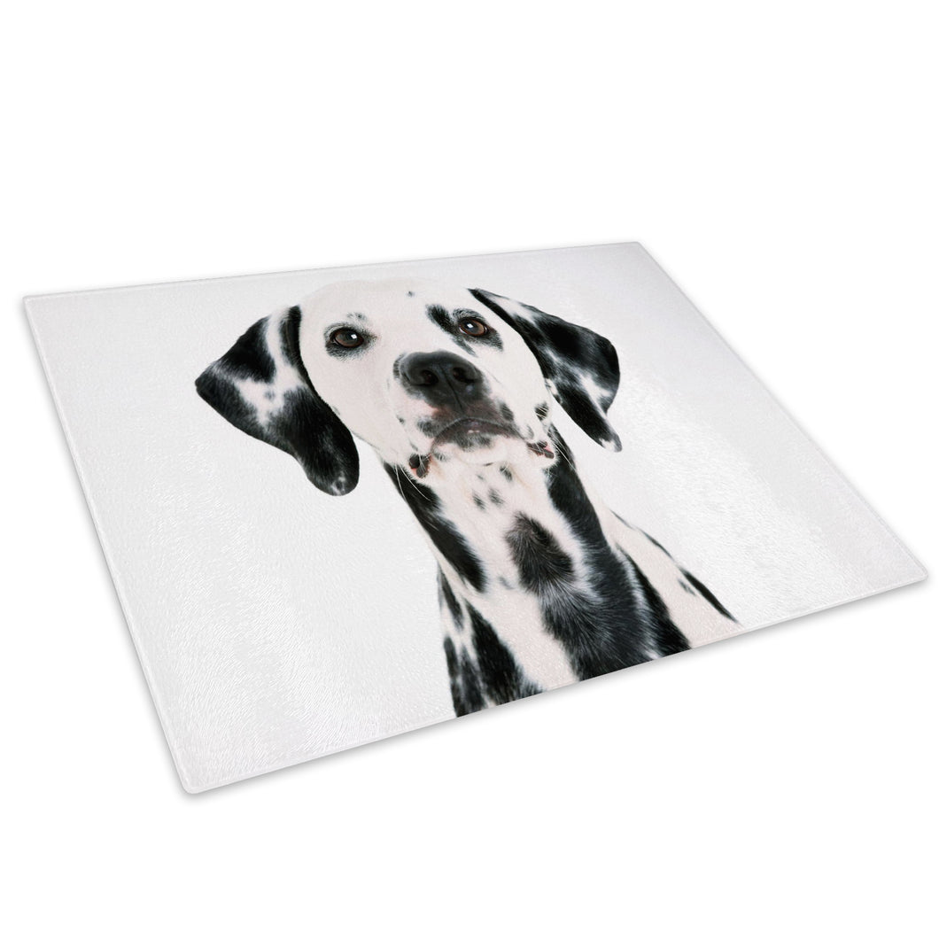 Black White Dalmatian Dog Glass Chopping Board Kitchen Worktop Saver Protector - A032-Animal Chopping Board-WhatsOnYourWall