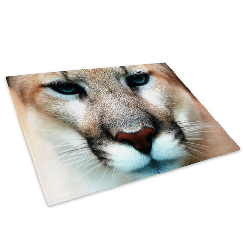 Brown Lion Blue Orange Glass Chopping Board Kitchen Worktop Saver Protector - A050-Animal Chopping Board-WhatsOnYourWall